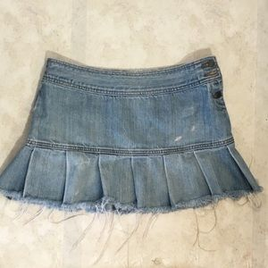 American Eagle Outfitters Raw Hem Jean Skirt